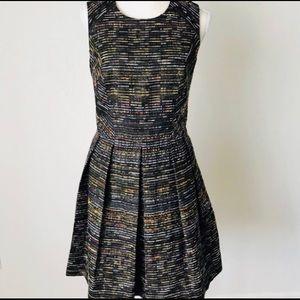Shoshanna x Sleeveless Tweed Pleated Dress Sz 2